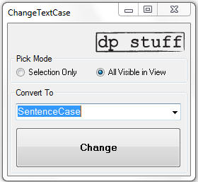 ChangeTextCase 2014 Revit Addin