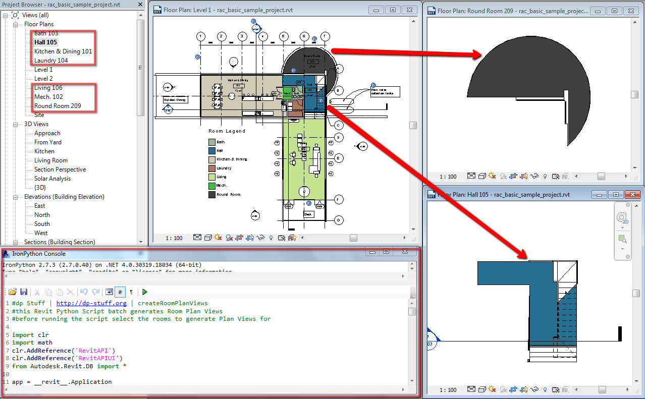 Room Plans, Non Rectangular View Ports In Revit 2014 And Python   Dp Stuff