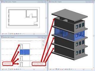 Tip On Variable Wall Heights And Revit Groups Dp Stuff