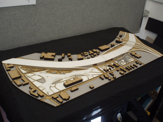 MLK District Development - Atlanta - Physical Model - 3d printer, lasercutter
