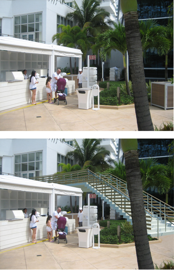 Fontainebleau Stair Addition. Before and After