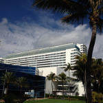Versailles Hotel Miami Beach - VIP Suites Addition. South East view from the beach.