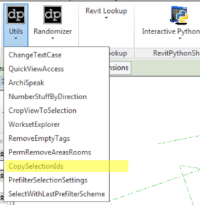CopySelectionIds Revit Addin dp Stuff