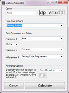 UpdateAreaCalcs Revit API Addin from dp Stuff